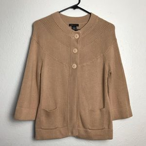 BCBG MaxAzria Knit Crop 3 Button Cardigan